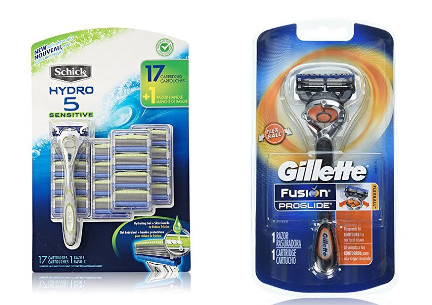 Schick Hydro 5 Vs Gillette Fusion