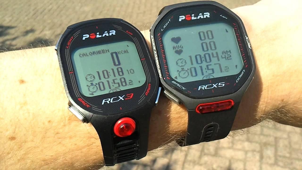 Polar RCX3 Vs RCX5